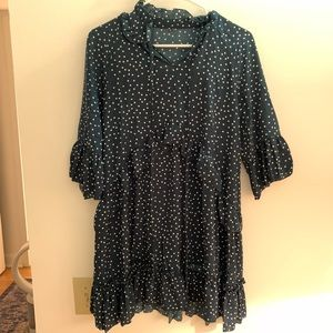 Chicwish dress, green with white polka dots